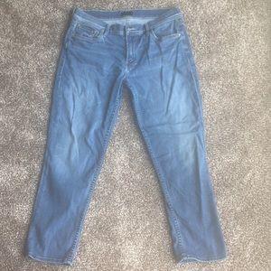 """""""MOTHER"""" lightwash denim high waisted skinny jeans"""
